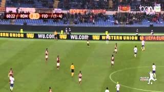 ملخص لمسات محمد صلاح ضد روما  اهداف مباراة فيورنتينا وروما 3 0  الدوري الاوروبي