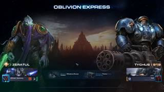 StarCraft 2 Co-Op Oblivion Express Zeratul Immortals vs Train :)