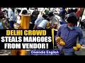 Viral video: Crowd loots mangoes worth thousands from a street vendor