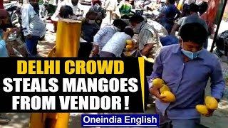 Viral video: Crowd loots mangoes worth thousands from a st..