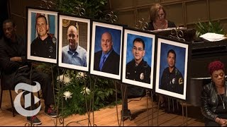 Memorial Service For Dallas Officers   The New York Times