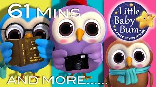 A Wise Old Owl | Plus Lots More Nursery Rhymes | 61 Minutes Compilation from LittleBabyBum!