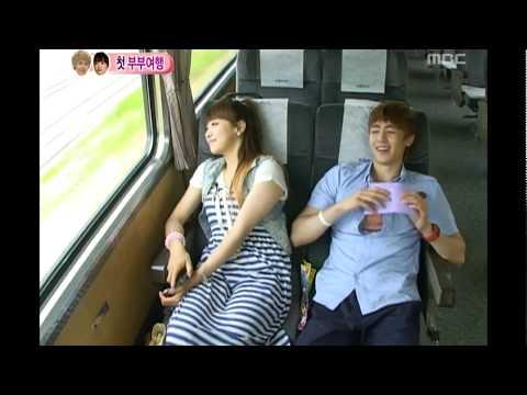 We got Married, Nichkhun♥Victoria's first trip with train