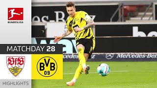VfB Stuttgart - Borussia Dortmund   2-3   Highlights   Matchday 28 – Bundesliga 2020/21