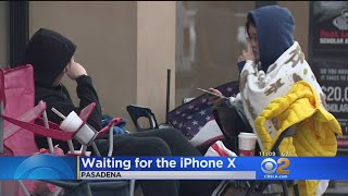 iPhone X Fans Camp Out For New Release In Pasadena