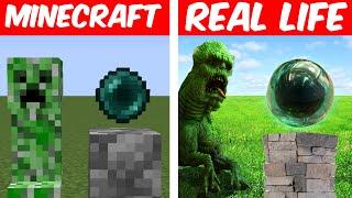 Minecraft, But It's REAL LIFE! (Blocks, Animals, Items)