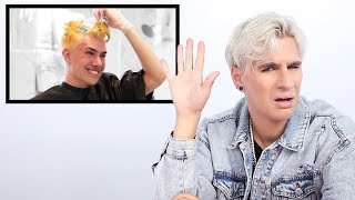 Hairdresser Reacts to James Charles Bleaching His Hair