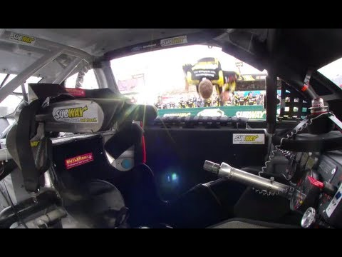 Carl Edwards Phoenix win POV including backflip! - YouTube