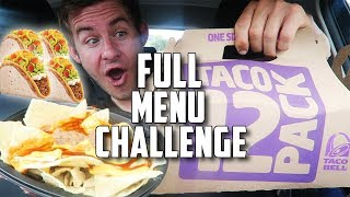 """THE """"SUPERCHARGED"""" TACO BELL MENU CHALLENGE!"""
