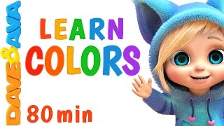 Learn Colors for Сhildren 🌈 Colors Song, Number Song, Counting Songs   Learning Video   Dave and Ava