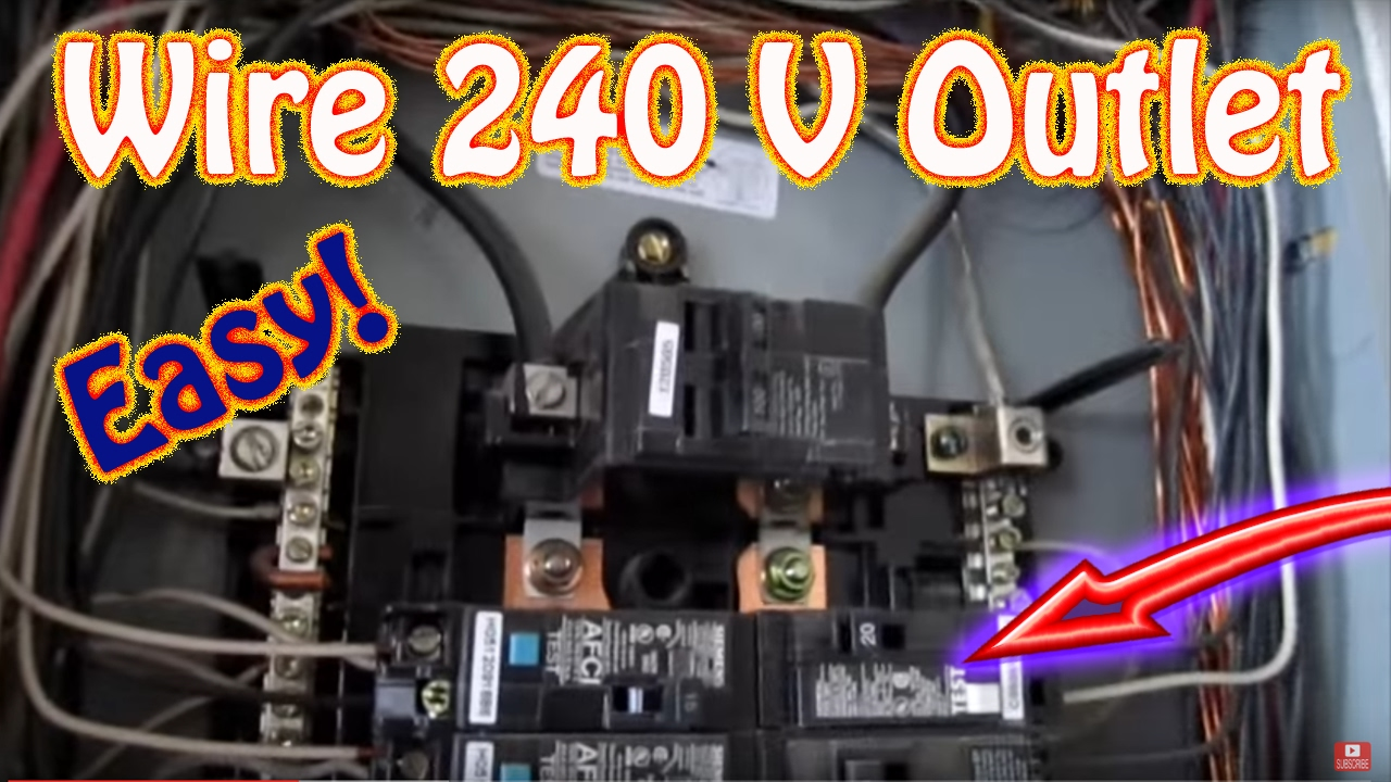 How To Wire A 240 Volt Outlet - Diy Install A 220 Volt Outlet