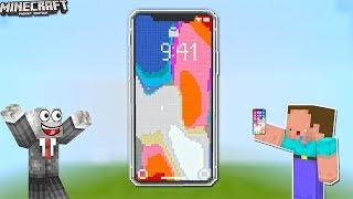 NOOB TẶNG IPHONE X CHO SLENDERMAN NHẬN DỊP NĂM MỚI 2018 TRONG MCPE | Thử Thách SlenderMan