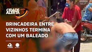 Brincadeira entre vizinhos termina com um baleado em Jaguaruana