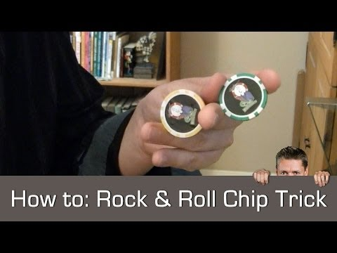 Repeat youtube video How to do New Poker Chip Trick - Rock'n Roll