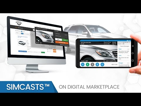 SimCasts On Digital Market Place By Auction Streaming