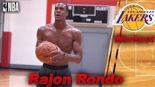 Lakers Rajon Rondo NBA Workout