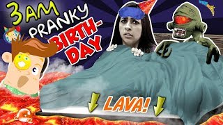 FLOOR IS LAVA + DON'T Joke at 3 AM on MOMMY'S BIRTHDAY! CAUTION FUNnel V Fam Bday Vlog