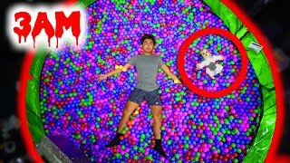 DO NOT JUMP ON THE TRAMPOLINE BALL PIT AT 3AM! (Ghost)
