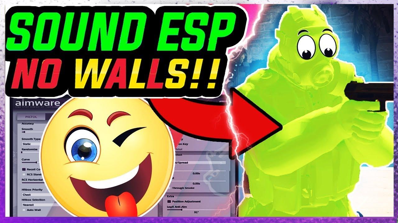 CS:GO SUPER Legit HACKING | NO WALLS (Sound ESP 40 Kills