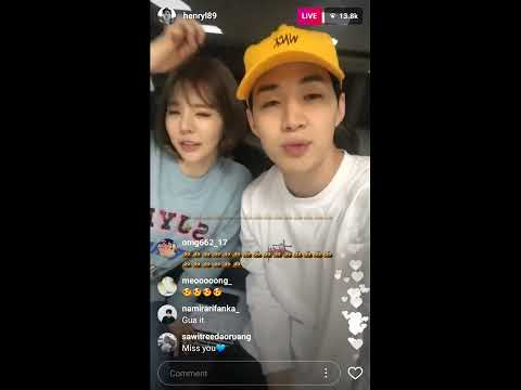 Henry And Sunny SNSD Insta Live Today