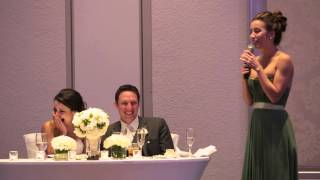 My Sister's hilarious maid of honor speech!