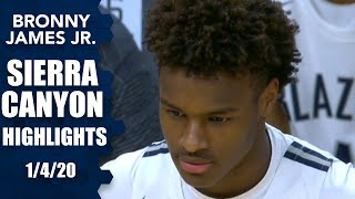 Bronny James, Sierra Canyon duel Jalen Suggs, No. 6 Gonzaga commit in 2020 | Prep Highlights