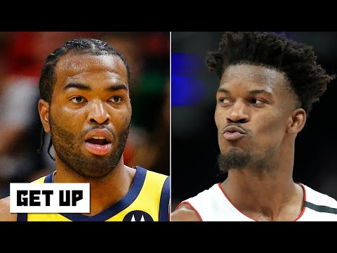Jimmy Butler calls T.J. Warren 'trash' after heated altercation - Jalen Rose reacts | Get Up