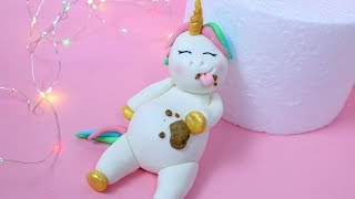 Fat Unicorn Cake! How to make fat unicorn cake topper