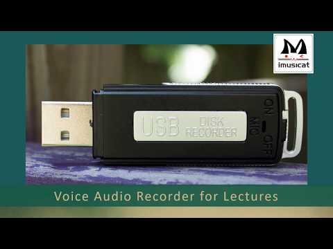 audio recorder for lectures - No Flashing Light While Recording - 15 Hrs Battery Life,8GB ,150 Hrs File Capacity