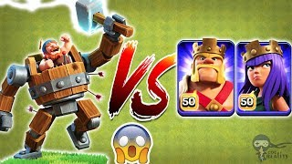 Battle Machine vs Barbarian King and Archer Queen | Battle Machine vs All Heroes
