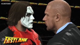 WWE Fast Lane 2015 - Sting Vs Triple H Confrontation - Vigilante Returns! (WWE 2K15)