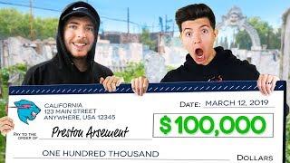 I Won $100,000 From MrBeast! (YouTuber Battle Royale)
