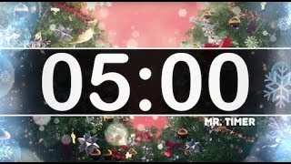 5 Minute Timer with Christmas Music - Jingle Bells - Instrumental Christmas Music for Kids!