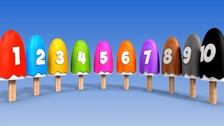 Learn Numbers with Number Ice Cream Popsicles Song   Numbers Songs for Children