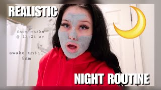 my realistic night routine