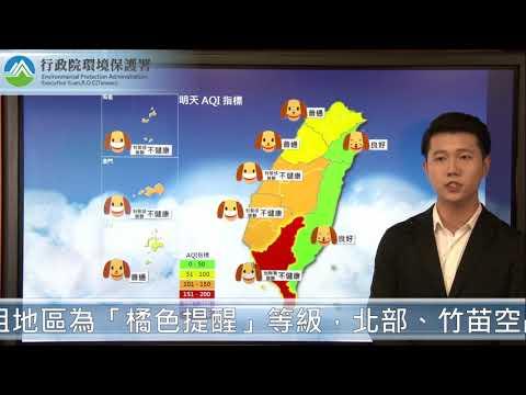 2018/11/08  空氣品質預報