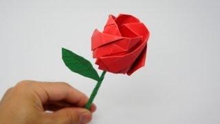 אוריגמי ורד גדול