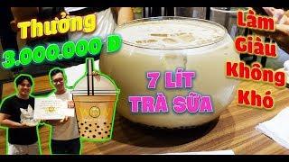 Làm Giàu Không Khó Với Bể Cá Trà Sữa Khổng Lồ 7 Lít Nhận Giải 3 Triệu Đồng.