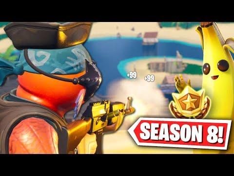fortnite season 8 new map gameplay - fortnite banane