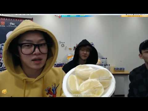 161216 Baekhyun eating lemon @  SM Super Celeb League
