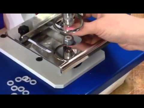 Micron PL-10  Pneumatic Attaching Machine # 1-J Self Piercing grommet with the plastic washer Installation
