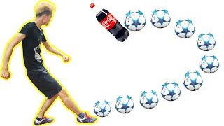 PHD   Thử Thách Sút Bóng Xoáy   Football Challenge