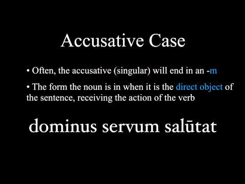 The Nominative And Accusative Cases Youtube
