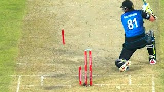 Best Destructive Pace Bowling in Cricket ● Stumps Broken ● Stumps Flying in Air ● - YouTube