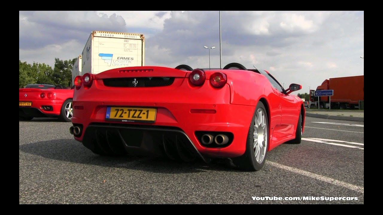 ferrari 360 spider and f430 spider on the autobahn to hockenheim germany 750k views special. Black Bedroom Furniture Sets. Home Design Ideas