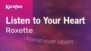 Karaoke Listen to Your Heart - Roxette *