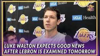 Lakers Interview: Luke Walton Said It Was Nice to Have LeBron & Rondo at Shoot Around
