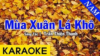 Karaoke Mùa Xuân Lá Khô Tone Nam Nhạc Sống - Beat Chuẩn