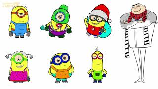 Minions Coloring Pages For Kids