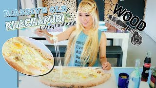 *Brand New* 6lb Khachapuri Eating Challenge | Titanic Boat Challenge @ WoodSilverLake | RainaisCrazy